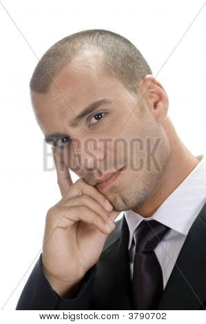 Businessman Making Rational Decision