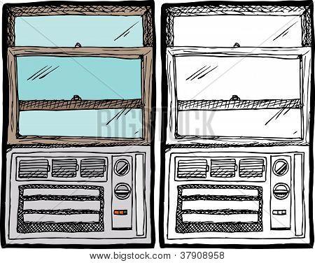 Unidad de ventana de aire acondicionado