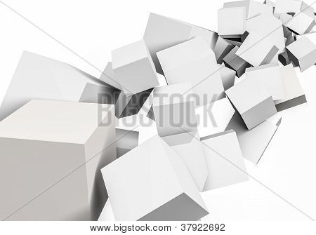 Abstract Colourful Cubes