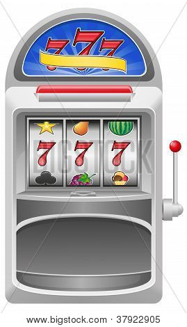 Slot Machine Vector Illustration