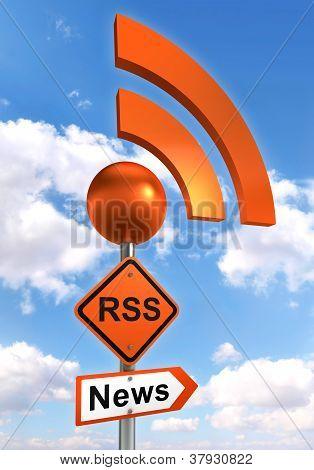 Rss Road Orange Sign