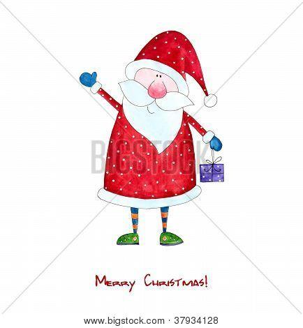 Santa Claus. Christmas card