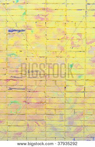 Graffiti On Brick Wall