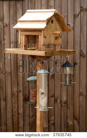 Wooden Bird Feeding Table