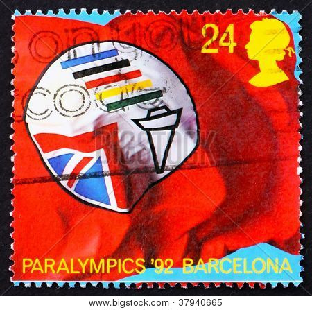 Postage stamp GB 1992 Flag of British ParalympicAssociation