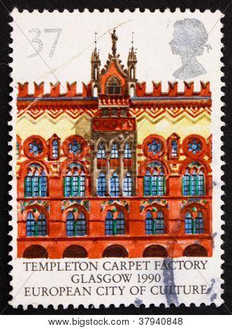 Postage stamp GB 1990 Templeton Carpet Factory