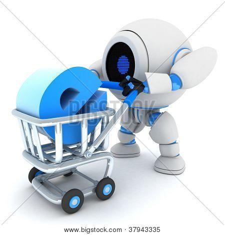 Robot And Cart E-shop