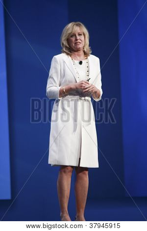 San Francisco, Ca, Oct 3, 2012 - Intel Vice President Diane Bryant Makes Speech At Oracle Openworld