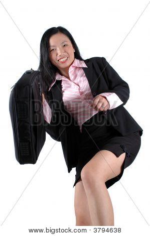 Happy Asian Businesswoman