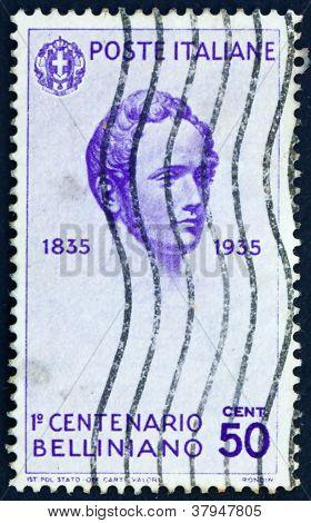 Postage stamp Italy 1935 Vincenzo Bellini, OperaticComposer
