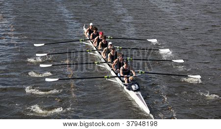 BOSTON - OCTOBER 21: Eton Boat Club races in the Head of Charles Regatta, Marin Rowing Association w
