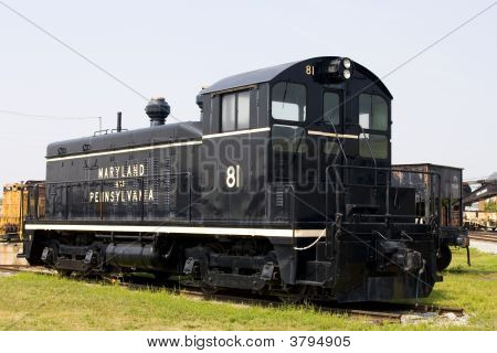 Antique Black Steam Locomotive