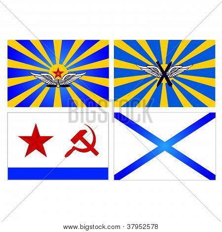 Flags of the Air Force and Navy of the USSR and Russia