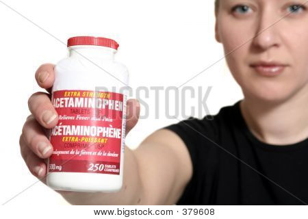 Woman Holding Medicine