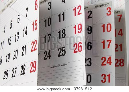 Páginas de calendário