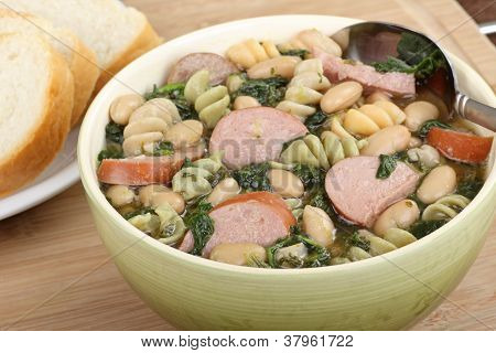 Bowl Of Kielbasa Soup