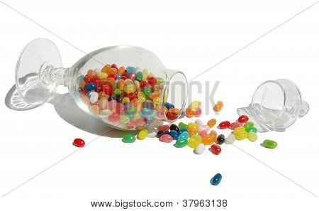 spilled candy
