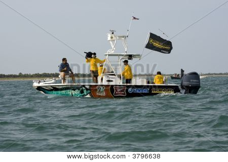 The Television Boat  For The Tarpon Tournament