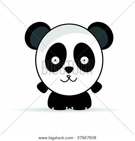Sweet And Funny Panda Animal Vector Illustrtion