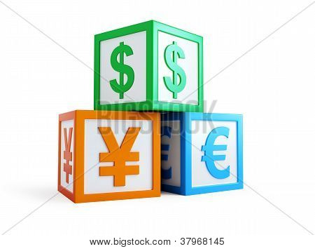 Alphabet Cube Finance Sign
