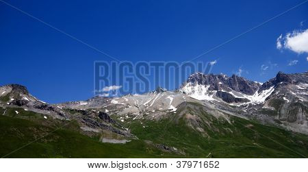Mountains landscape (Monetier Les Bainsin)