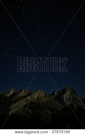 Starry Night Above High Rocky Mountains