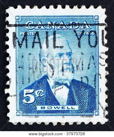 Postage stamp Canada 1954 Sir Mackenzie Bowell,Politician