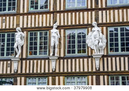 Rouen - Exterior Of Ancient House