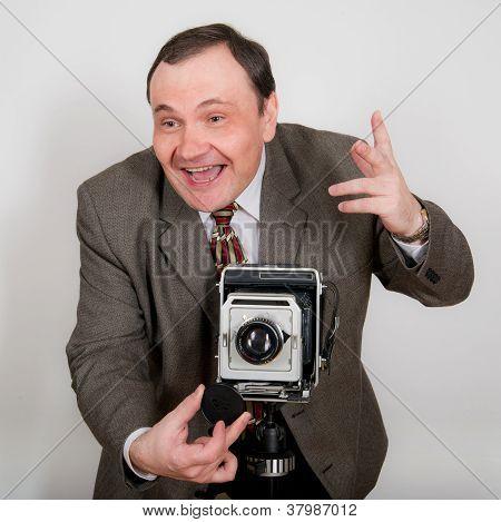 Funny Retro Photographer