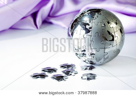 Globe Puzzle Of Jigsaw