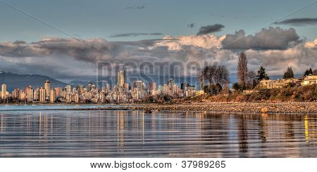 Vancouver Skyline From Shore