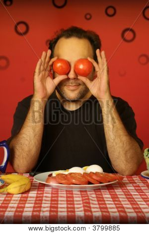 Man With Tomatoes