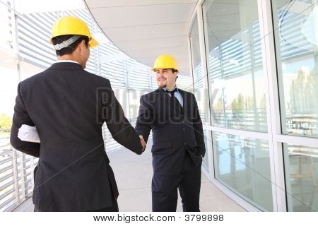 Architects Shaking Hands