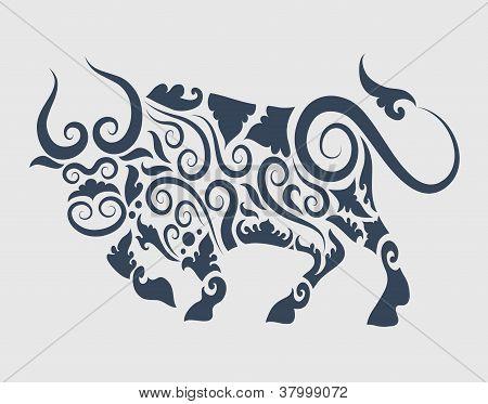 Bull ornament