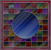 Multicolored Stained Glass With Blank Copyspace