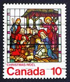 Postage stamp Canada 1976 Nativity, Stained-glassWindow