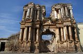 image of conquistadors  - Ruins of the Iglesia de El Carmen church in Antigua Guatemala destroyed by an earthquake - JPG