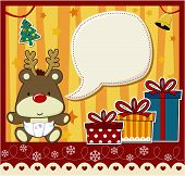 xmas card background vector