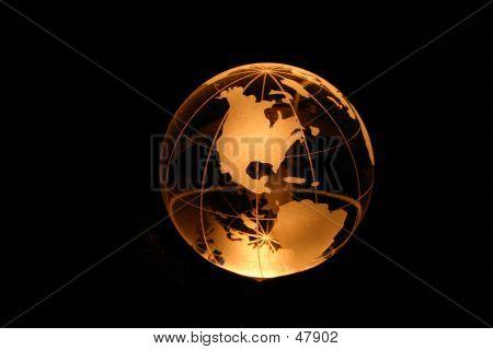 Globe In Yellow Light