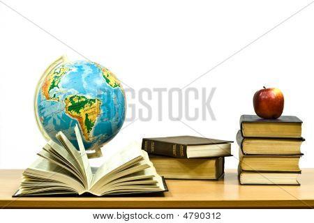Belichtete Bücher und Apple