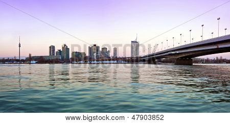 Skyline Danube City Vienna