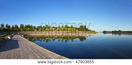 A ilha do Danúbio de Viena
