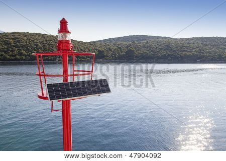 Little Red beacon, solar powered