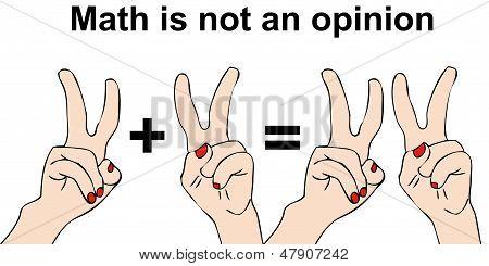 Matemática não é uma opinião