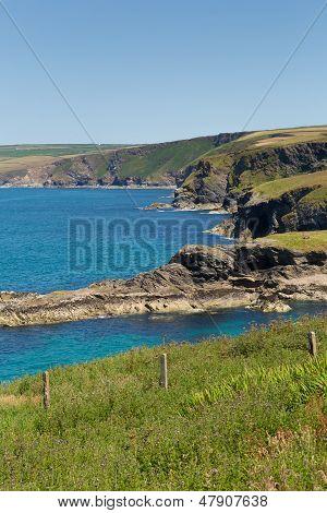 Cornwall coast Port Isaac to direction of Tintagel Cornwall England UK