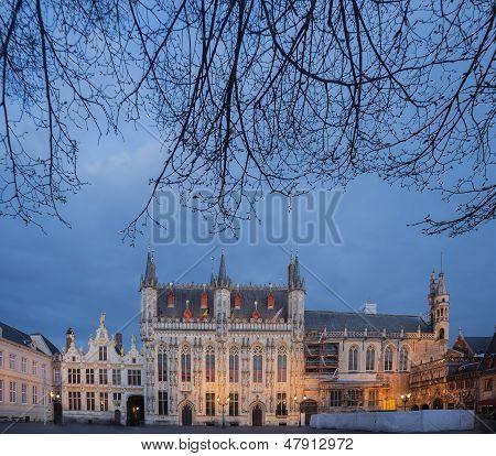 Bruges Historical Town Hall Building
