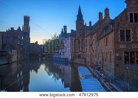 Bruges ,Belguim Canals and Houses