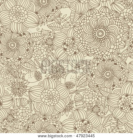 Stylish vintage floral background. Seamless pattern can be used for wallpapers, pattern fills, web page backgrounds, surface textures. Gorgeous vector background