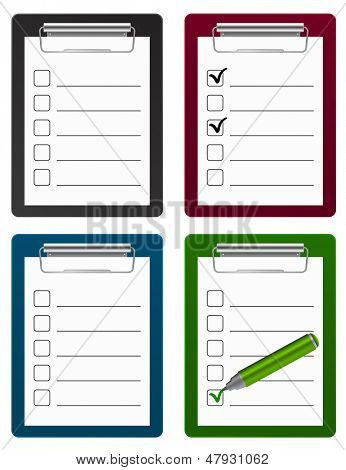 icono del portapapeles checklist