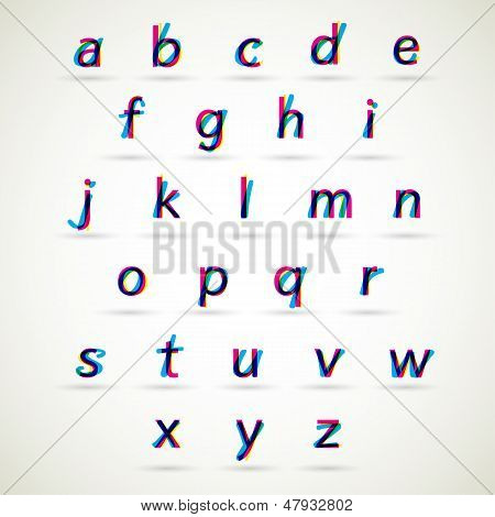Lower case alphabet set